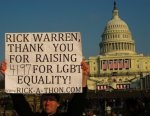 Using anti-gay pastor Rick Warren to raise money for LGBT equality